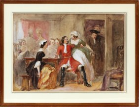John Absolon Watercolor & Gouache On Paper