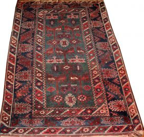 Antique Shiraz Persian Wool Rug C. Early 20th C.
