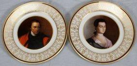American Revolution Patriots Porcelain Plates