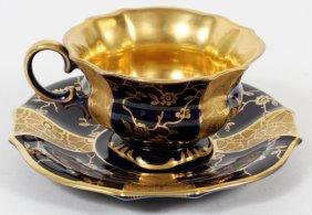 Lindner German Porcelain Demitasse Cup & Saucer