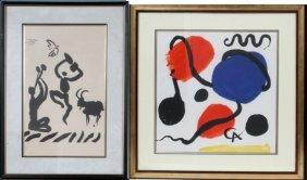 After Picasso & Calder Color Lithographs