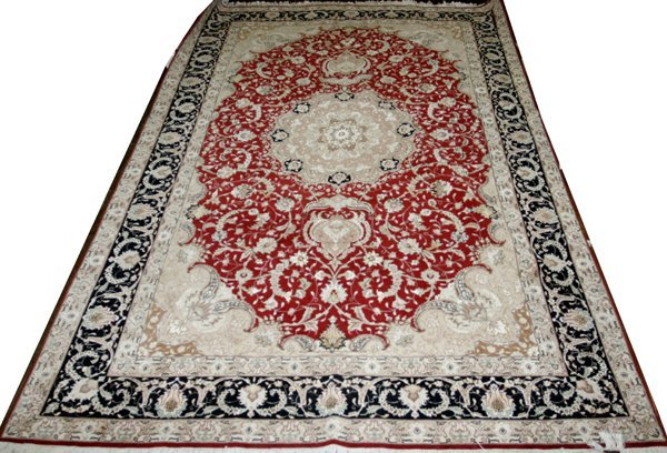 "030008: TABRIZ DESIGN CARPET 9'9.5""x6'5"""