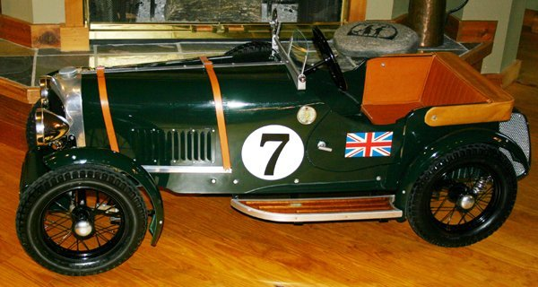 "030010: BENTLEY SPEED 6 PEDAL CAR, W 24"", H 23"", L 58"""