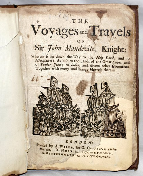 030018: SIR JOHN MANDEVILLE KNIGHT, THE VOYAGES OF...