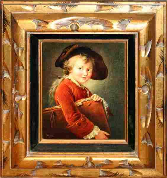 PRINT ON ARTIST BOARD, YOUNG BOY W/ PORTFOLIO