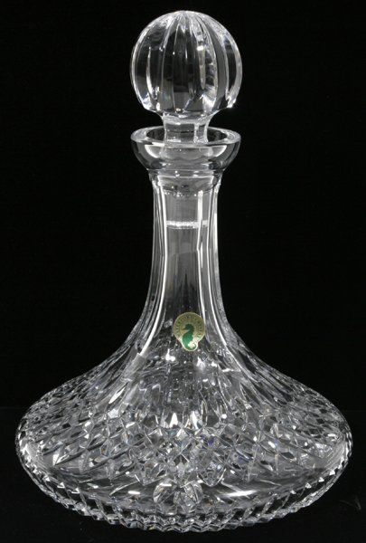 """031164: WATERFORD CRYSTAL SHIP'S DECANTER, H 10.5"""""""