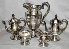 031282: JAMES W. TUFTS OF BOSTON SILVERPLATE TEA SET