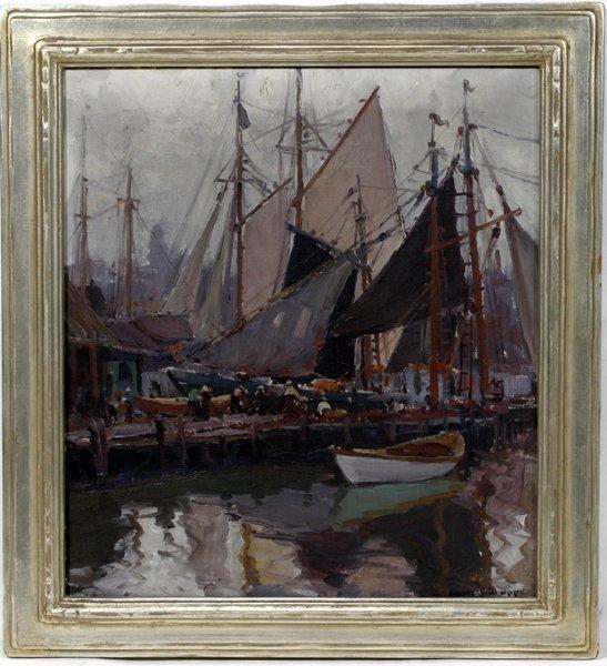 "032008: EMILE A. GRUPPE OIL ON CANVAS, 1937, ""FIESTA"""