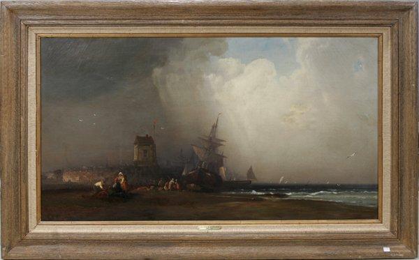 032012: GEORGE W. NICHOLSON OIL ON CANVAS, STORM