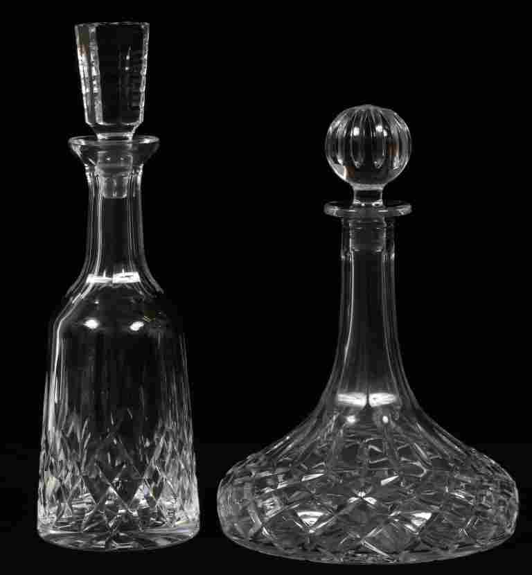 WATERFORD 'LISMORE' CRYSTAL SHIP'S DECANTER
