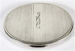 TIFFANY  CO STERLING COMPACT EARLY 20TH C