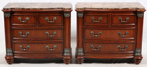 DREXEL HERITAGE END TABLES AND CHEST OF DRAWERS
