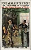 "LUCIEN JONAS WWI PROPAGANDA POSTER, 1918, H 44"", W 26"""