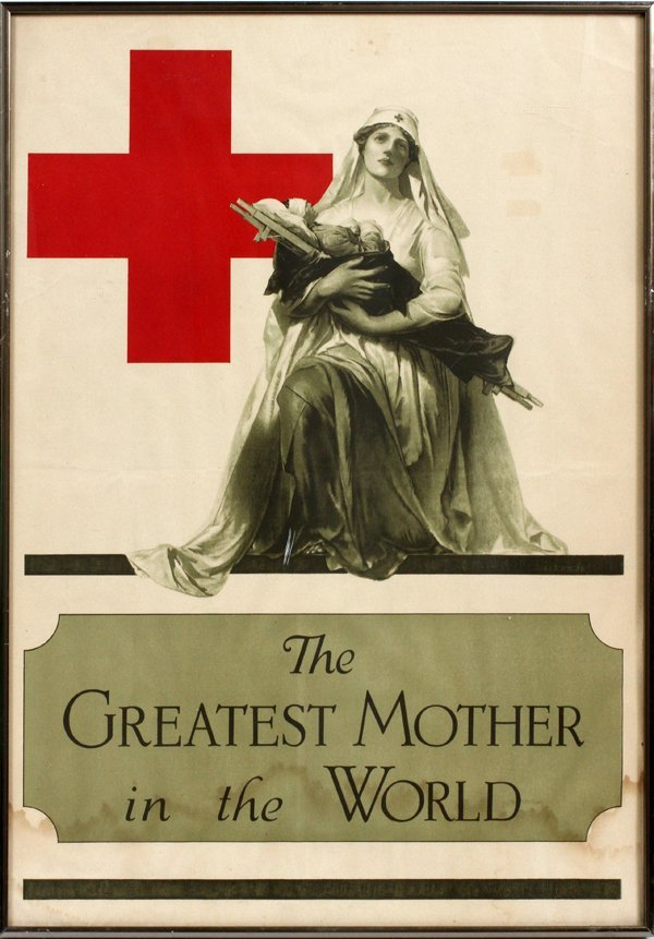 WWI RED CROSS POSTER 1918 ALONZO EARL FORINGER
