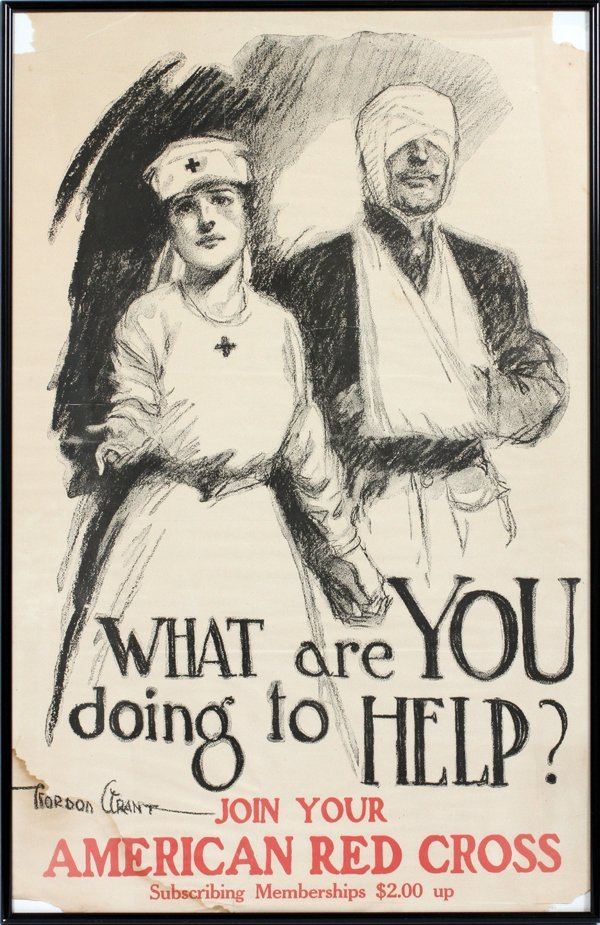 WWI U.S. RECRUITING POSTER C1918 GORDON HOPE GRANT