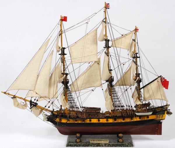 SCALE SHIP'S MODEL 'H.M.S. SURPRISE'