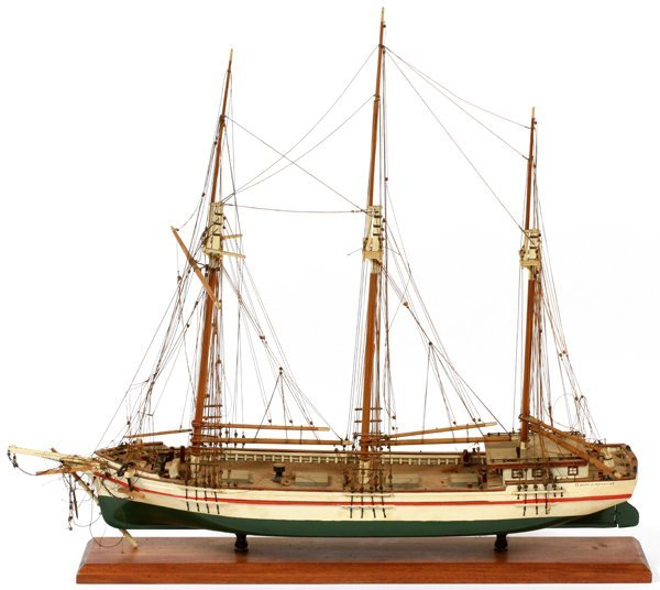 HAND-PAINTED MODEL SHIP
