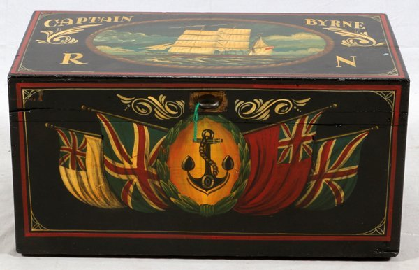 HAND PAINTED CAMPAIGN TRUNK