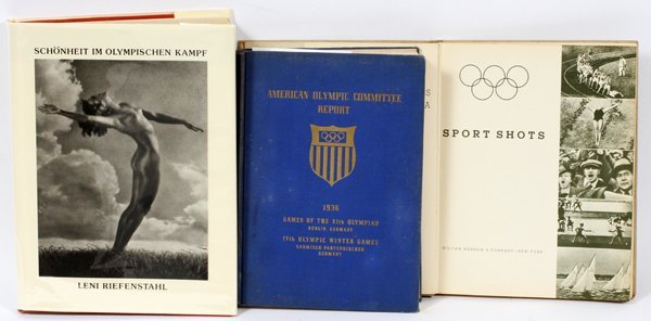 1936 OLYMPIC BOOKS AMERICAN OLYMPIC REPORT