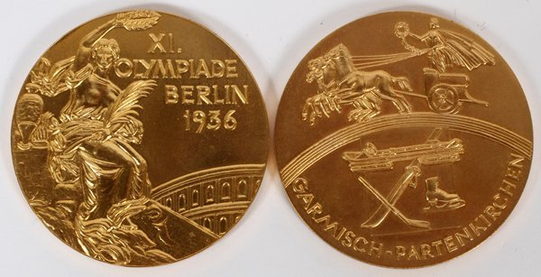 1936 BERLIN AND GARMISCH OLYMPIC GAMES MEDALS