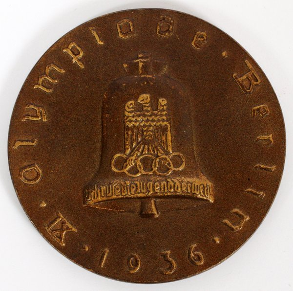 1936 OLYMPICS BRONZE PARTICIPATION TABLE MEDAL