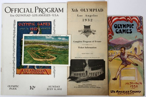 1932 XTH OLYMPIAD LOS ANGELES PROGRAM BROCHURE ETC.