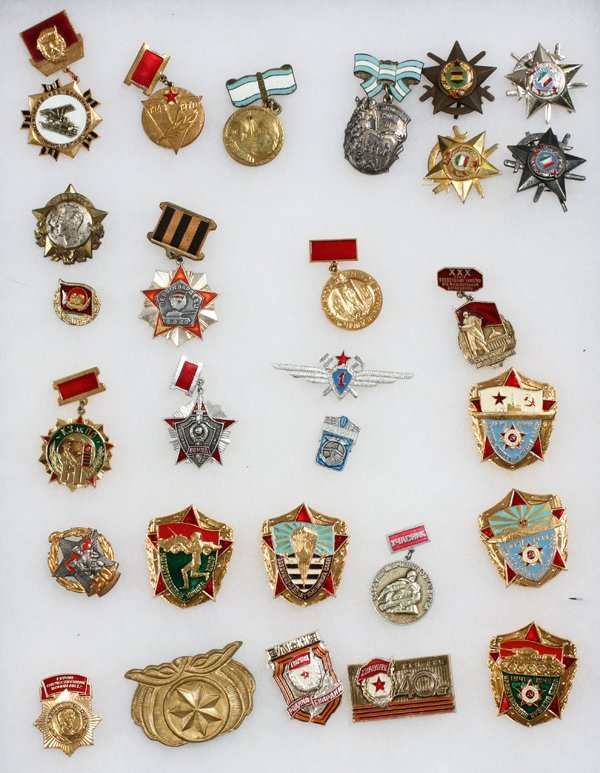 RUSSIAN AND BULGARIAN ENAMEL MEDALS
