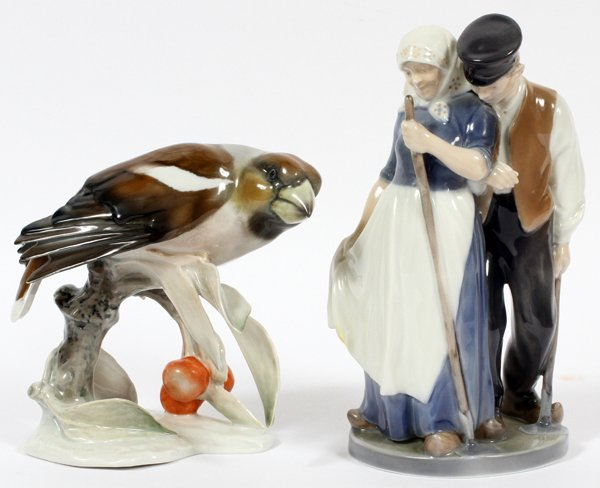ROYAL COPENHAGEN & ROSENTHAL PORCELAIN FIGURES TWO