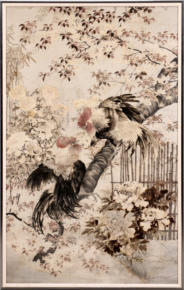CHINESE PAINTING ON FABRIC