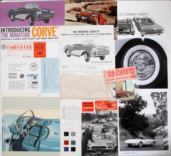 CORVETTE PHOTOS BROCHURES & ADVERTISING PICTURES