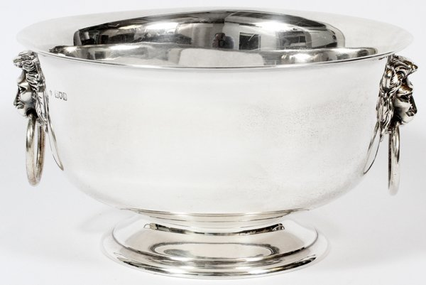 GEORGE V STERLING PUNCH BOWL FOR TIFFANY & CO.