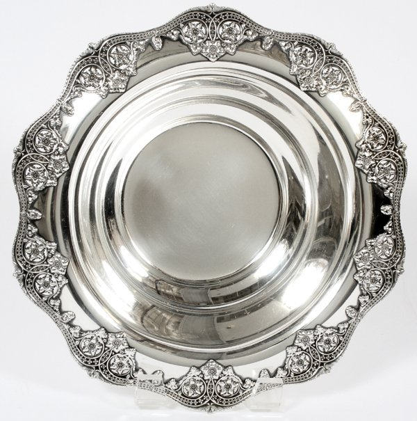 TIFFANY & CO. STERLING FRUIT BOWL C. 1915