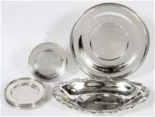 STERLING SILVER SERVING PIECES FOURTEEN PIECES