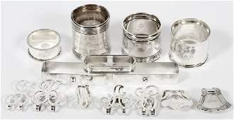AMERICAN STERLING NAPKIN RINGS  CLIPS