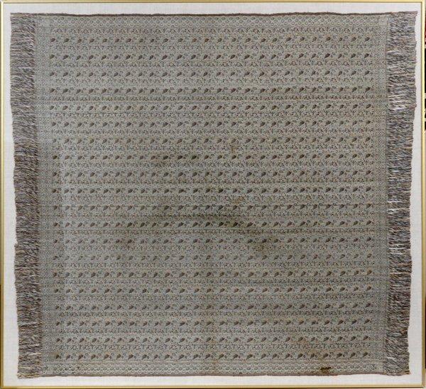 EGYPTIAN WOVEN TABLE COVER FRAMED