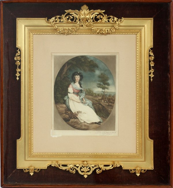 EUROPEAN GILT WOOD & GESSO FRAME C. 1900