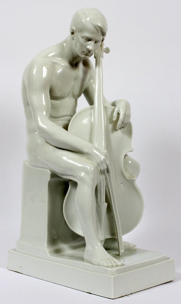 ROSENTHAL PORCELAIN FIGURE OF A CELLO PLAYER