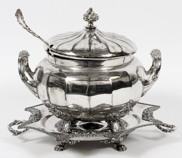 ADELPHI SILVERPLATE CO. SOUP TUREEN & UNDER PLATE