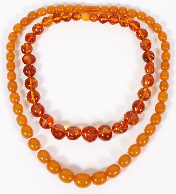AMBER BEADED NECKLACES TWO