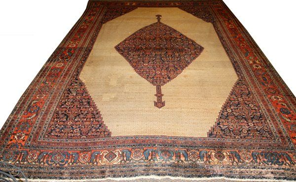 PERSIAN BIJAR HAND WOVEN WOOL CARPET