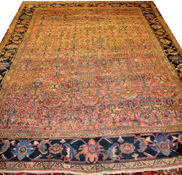 "040022: MAHAL PERSIAN WOOL CARPET 9' 8""x10' 10"""