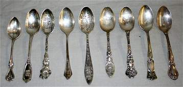 040379: DEMITASSE STERLING SILVER SPOON COLLECTION