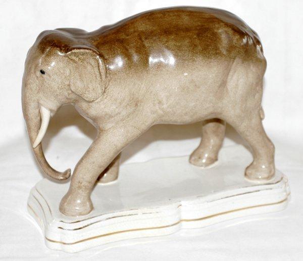 041003: STAFFORDSHIRE ENGLISH POTTERY ELEPHANT, C.1880