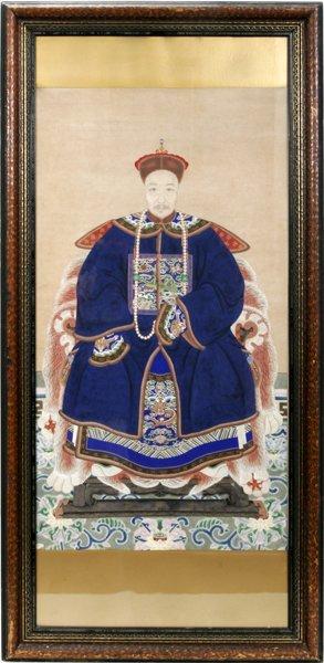 042017: JAPANESE ANCESTRAL PORTRAIT, 19TH.C.