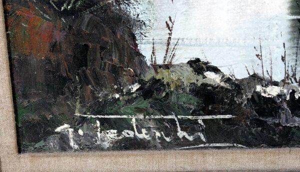 042481: G. TEDESCHI OIL ON CANVAS, SUMMER LANDSCAPE - 2