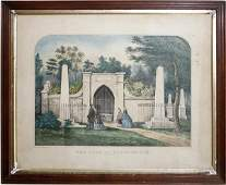 042518: CURRIER & IVES LITHOGRAPH, TOMB OF WASHINGTON
