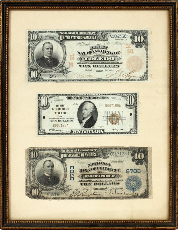 SIGNATURES RICHARD JOY & REYNOLDS $10 CURRENCY