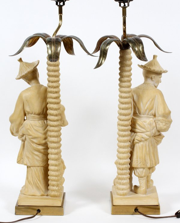CHINESE FIGURAL LAMPS TWO PIECES - 2