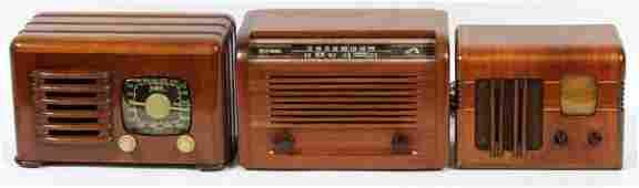 SUPERHET RCA VICTOR & ZENITH RADIOS C. 1940 THREE