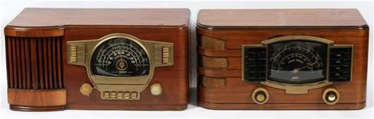 ZENITH MAHOGANY TABLE TOP RADIOS C. 1940 TWO